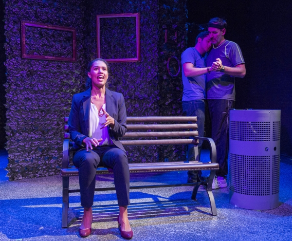 "Zoey Martinson, Alex Kramer, and Erik Lochtefeld in ""He Ate the Sun� by Sheila Callaghan directed by Michael Orsinski"