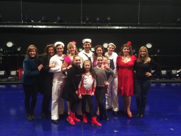 Abby Lee Miller, Melissa Gisoni, Jill Vertes, Maddie & Mackenzie Ziegler, and Kendall Vertes, Niz Frasier & Cast of ON THE TOWN