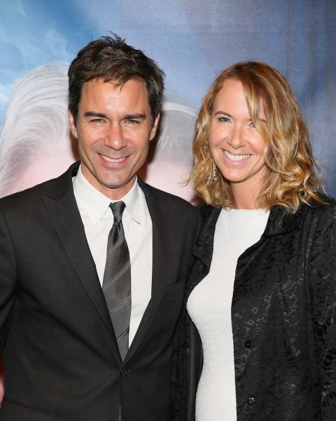 From left, actor Eric McCormack and wife Janet McCormack arrive for the opening night performance of ''Blithe Spirit'' at Center Theatre Group/Ahmanson Theatre on December 14, 2014, in Los Angeles, California. (Photo by Ryan Miller/Capture Imaging)