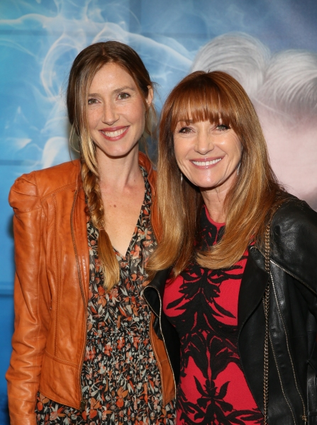 "From left, Katie Simon and actress Jane Seymour arrive for the opening night performance of ""Blithe Spirit"" at Center Theatre Group/Ahmanson Theatre on December 14, 2014, in Los Angeles, California. (Photo by Ryan Miller/Capture Imaging)"