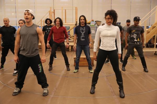 Photo Flash: Go Inside Rehearsals for Public Theater's HAMILTON with Lin-Manuel Miranda & More; Full Cast Announced!