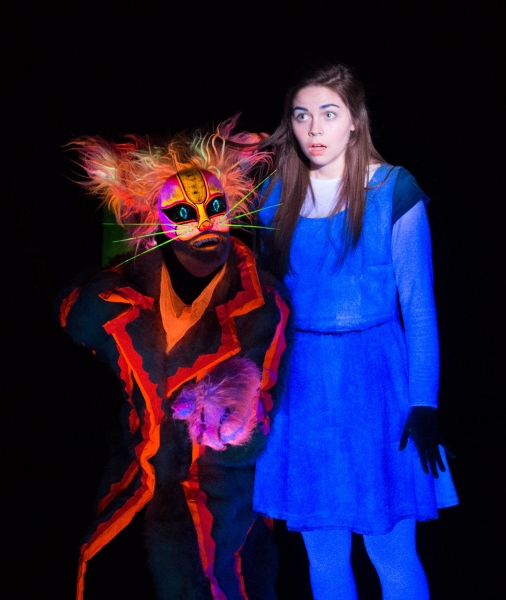 Andrew Betz (as The Cheshire Cat), Emiley Kiser (as Alice)