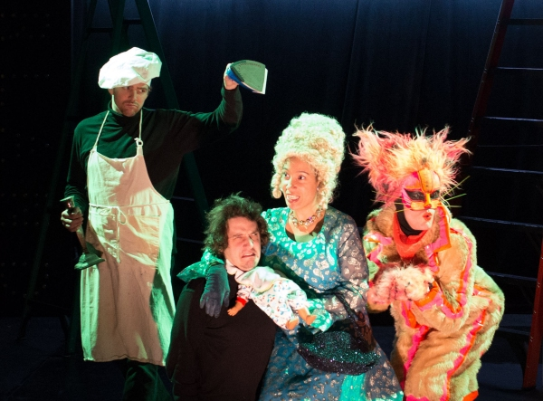 Sean Bradley (as The Cook),  Johnny Smith (as The Baby), Anita Holland (as The Duchess), Andrew Betz (as The Cheshire Cat)