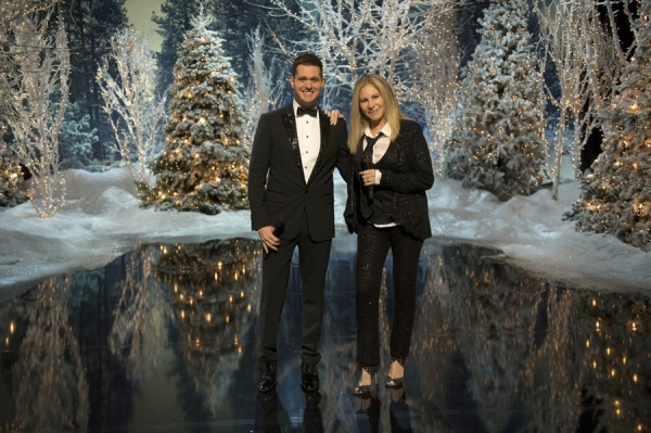 "MICHAEL BUBLE'S CHRISTMAS IN NEW YORK -- ""Barbra/Michael Duet"" -- Pictured: (l-r) Michael Buble, Barbra Streisand -- (Photo by: Neil Jacobs/NBC)"