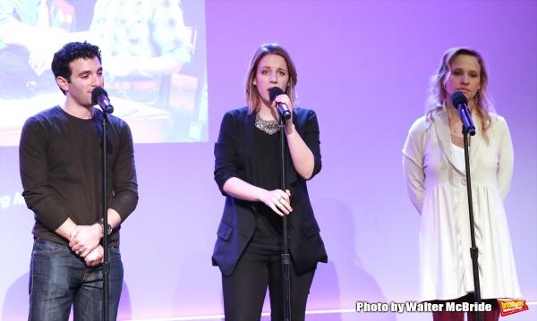 Jarrod Spector, Jessie Mueller and Anika Larsen