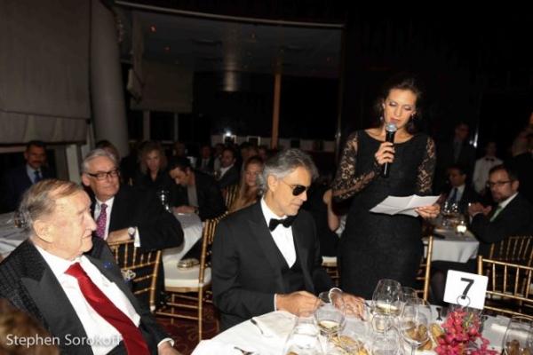 Sirio Maccioni, Andrea Bocelli, Veronica Berti