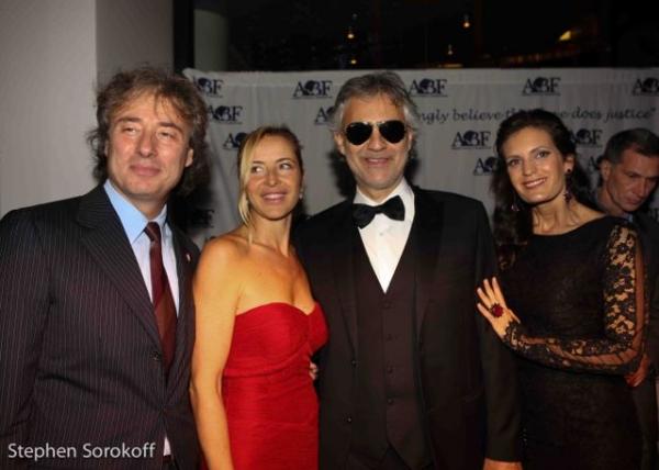 Marco Maccioni, Sabrina Wender, Andrea Bocelli, Veronical Berti Photo