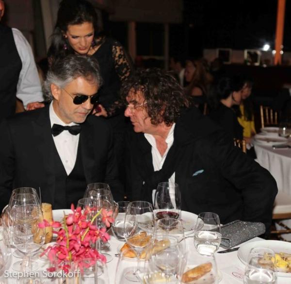 Andrea Bocelli & Chef Fulvio Pierangelini Photo