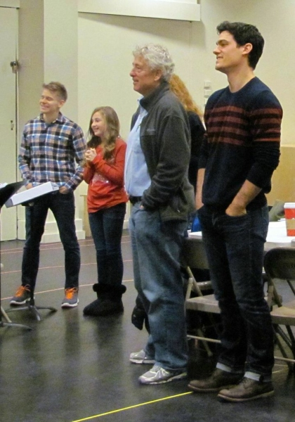Andrew Keenan-Bolger, Sarah Charles Lewis, Bill Duell, and Robert Lenzi