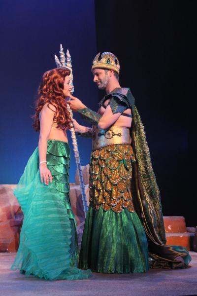 Beth Stafford Laird (Ariel) and Joseph C. Bellino (King Triton)
