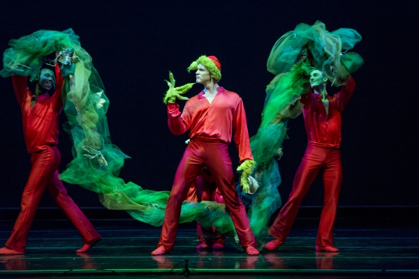 Smuin dancers Dustin James (left) and Kevin James (right) surround Robert Moore, who is the featured bad-guy in  Mean and Green - a new work choreographed by Weston Krukow
