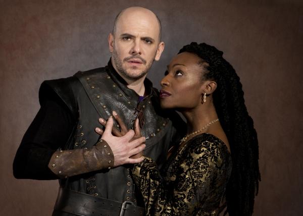 Macbeth (Chris Genebach) and Lady Macbeth (Lanise Antoine Shelley)