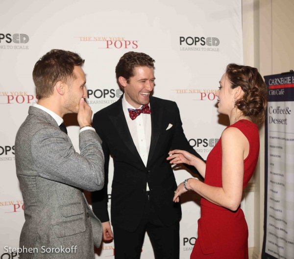 Nathan Johnson, Matthew Morrison, Laura Osnes