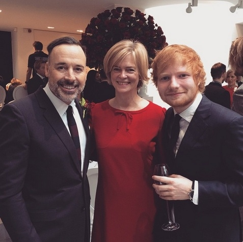 David Furnish, Lady Ruth Dundas, Ed Sheeran