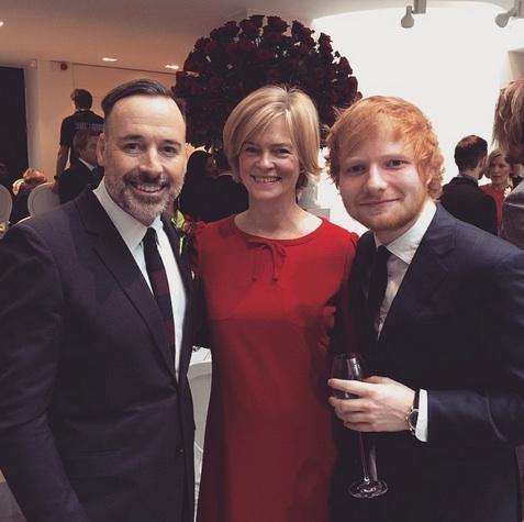 David Furnish, Lady Ruth Dundas, Ed Sheeran