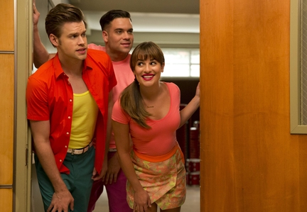 Chris Colfer, Mark Saling, Lea Michele