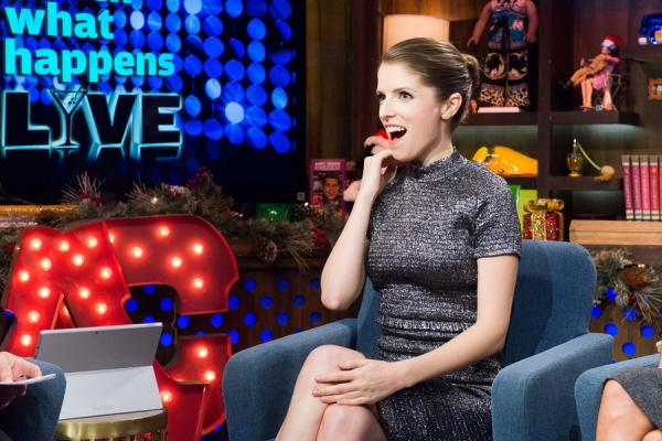 WATCH WHAT HAPPENS LIVE -- Episode 11208 - Pictured: Anna Kendrick -- (Photo by: Charles Sykes/Bravo)