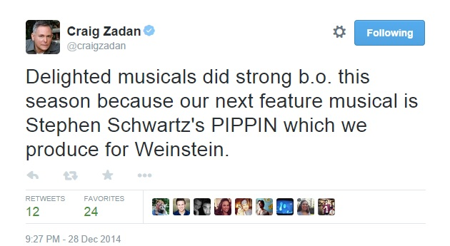 Craig Zadan Confirms PIPPIN Film Up Next for Him and Meron