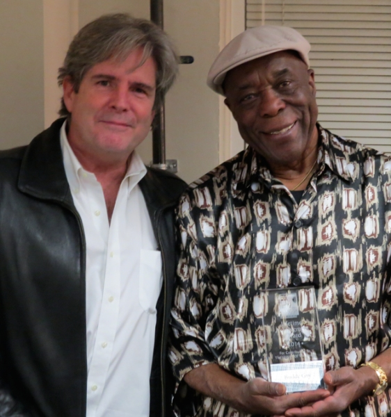 HP Newquist, Executive Director of the NGM, and Buddy Guy during the presentation of the Lifetime Achievement Award