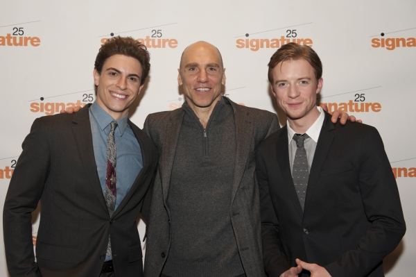 Derek Klena (Boogie), John Schiappa (Older Boogie), and Matthew James Thomas (Fenwick)