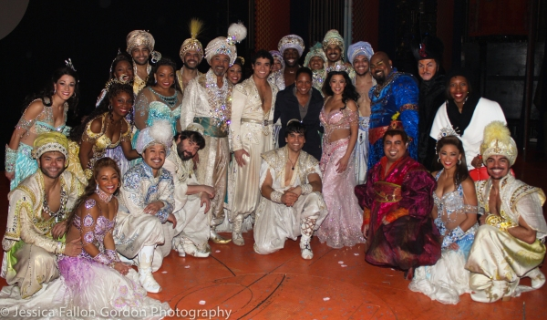 Audra McDonald with the cast