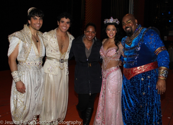 Steel Burkhardt, Adam Jacobs, Audra McDonald, Courtney Reed and James Monroe Iglehart