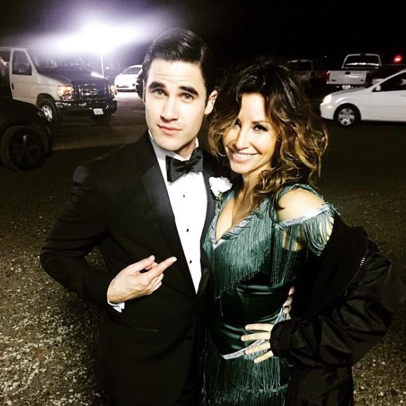 Darren Criss and Gina Gershon
