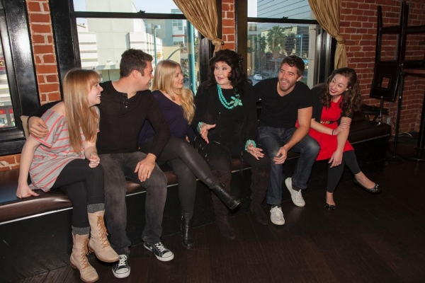 Barbara Van Orden (center) shares her experiences with Frank Sinatra with contestants Kelley Dorney, Alex Allan, Alexandra Hartman, Dylan MacDonald and Hannah Goodman
