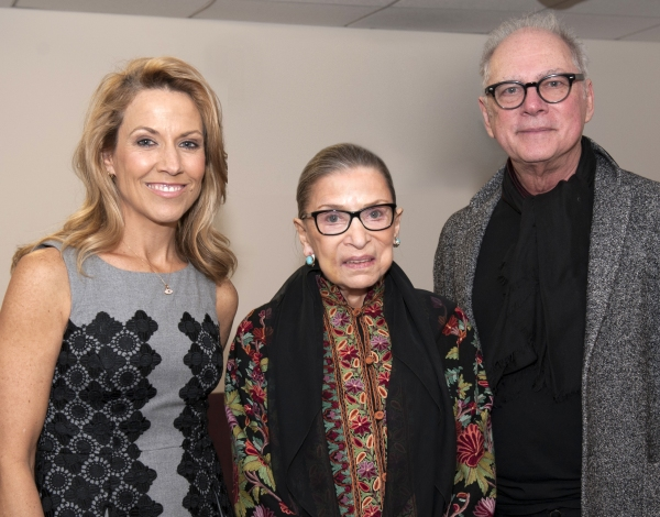 Sheryl Crow, Justice Ruth Bader Ginsburg, and Barry Levinson