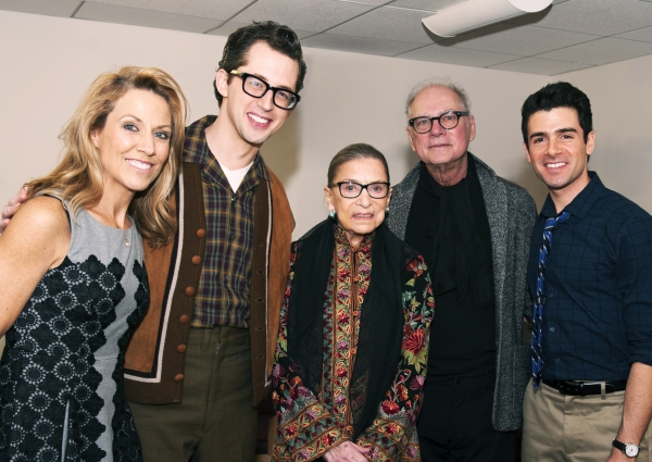 Sheryl Crow, Josh Grisetti, Justice Ruth Bader Ginsburg, Barry Levinson and Adam Kantor