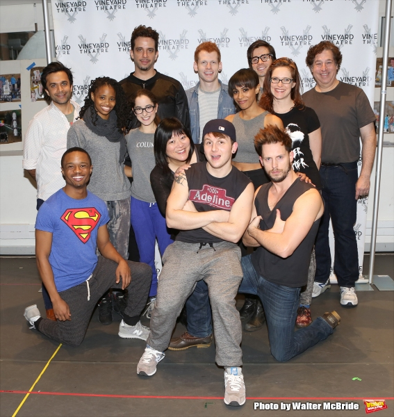 The cast; Nick Choksi, John-Michael Lyles, Carla Duren, Nick Cordero, Remy Zaken, Ann Photo