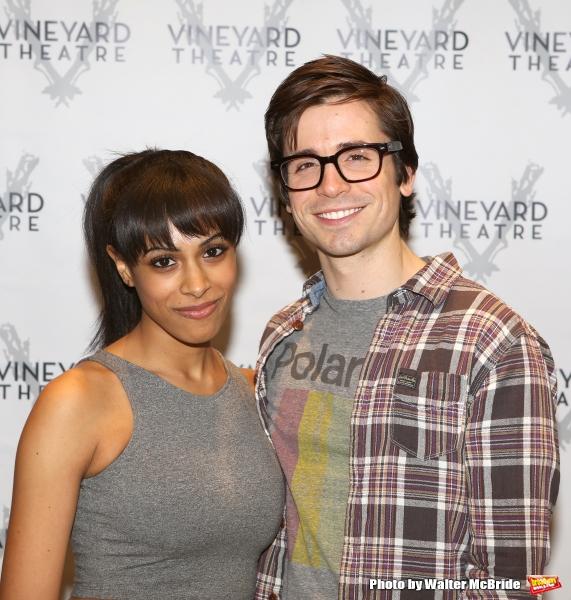 Nicolette Robinson and Matt Doyle