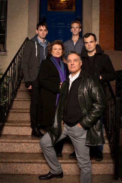 Clockwise from front: Robert Cuccioli, Angelina Fiordellisi, David McElwee, Timothy Hassler, Stephen Plunkett