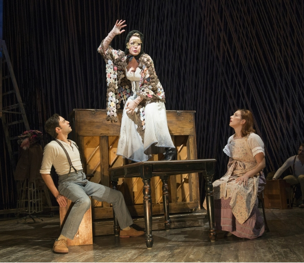 Into the Woods Production Photo - Ben Steinfeld, Jennifer Mudge and Jessie Austrian