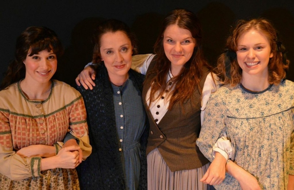 Caitlin McWethy as Beth, Kelly Mengelkoch as Meg, Maggie Lou Rader as Jo and Courtney Lucien as Amy