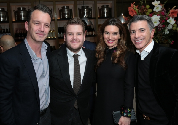 Sean Bailey, James Corden, Charmaine Bailey and Ricky Strauss arrive as Disney celebrates the Golden Globes Best Picture nominated Into the Woods with Meryl Streep, Anna Kendrick, James Corden, Rob Marshall and Executives in Los Angeles, California on Sat
