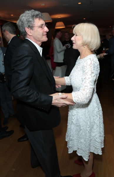 Alan Horn greets Helen Mirren as Disney celebrates their 2015 Golden Globes nominees from Into the Woods, Big Hero 6, and The Hundred-Foot Journey in Los Angeles, California on Saturday, January 10, 2015. (Photo: Alex J. Berliner/ABImages)