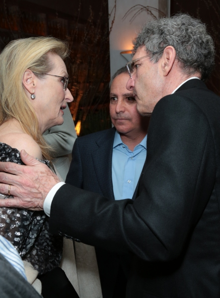 Meryl Streep, Alan Bergman and Alan Horn chat as Disney celebrates the Golden Globes Best Picture nominated Into the Woods with Meryl Streep, Anna Kendrick, James Corden, Rob Marshall and Executives in Los Angeles, California on Saturday, January 10, 2015