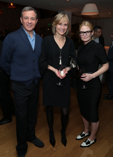Bob Iger, Willow Bay and Jennifer Morrison arrive as Disney celebrates their 2015 Golden Globes nominees from Into the Woods, Big Hero 6, and The Hundred-Foot Journey in Los Angeles, California on Saturday, January 10, 2015. (Photo: Alex J. Berliner/ABIma