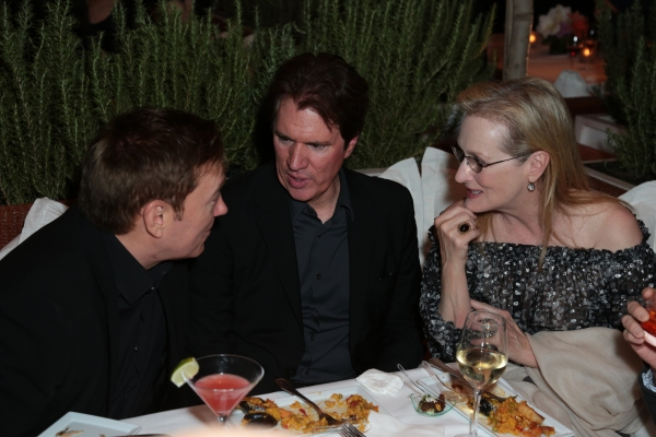 Kevin Huvane, Rob Marshall and  Meryl Streep chat as Disney celebrates the Golden Globes Best Picture nominated Into the Woods with Meryl Streep, Anna Kendrick, James Corden, Rob Marshall and Executives in Los Angeles, California on Saturday, January 10,