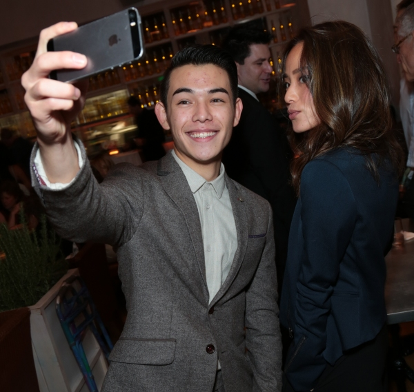 Ryan Potter and Jamie Chung pose for a photo as Disney celebrates their 2015 Golden Globes nominees from Into the Woods, Big Hero 6, and The Hundred-Foot Journey in Los Angeles, California on Saturday, January 10, 2015. (Photo: Alex J. Berliner/ABImages)