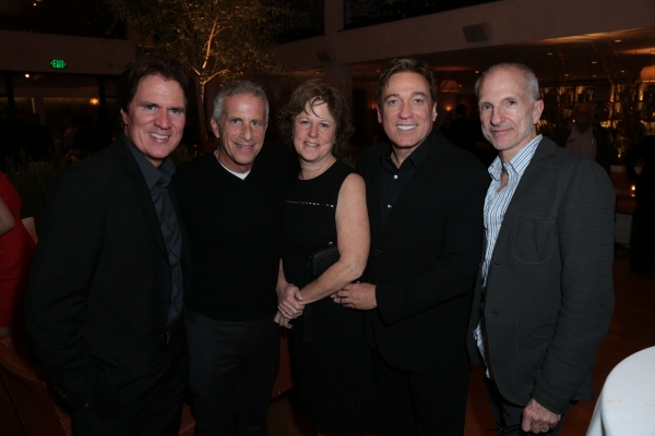 Rob Marshall, Marc Platt, Julie Platt, Kevin Huvane and John DeLuca pose together as Disney celebrates their 2015 Golden Globes nominees from Into the Woods, Big Hero 6, and The Hundred-Foot Journey in Los Angeles, California on Saturday, January 10, 2015