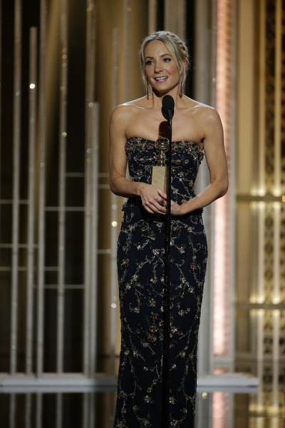 "72nd ANNUAL GOLDEN GLOBE AWARDS -- Pictured: Joanne Froggatt, ""Downton Abbey"", Winner, Best Supporting Actress - Series/Mini-Series/TV Movie at the 72nd Annual Golden Globe Awards held at the Beverly Hilton Hotel on January 11, 2015 -- (Photo by: Paul Dri"