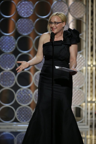 "72nd ANNUAL GOLDEN GLOBE AWARDS -- Pictured: Patricia Arquette, ""Boyhood"", Winner, Best Supporting Actress - Motion Picture at the 72nd Annual Golden Globe Awards held at the Beverly Hilton Hotel on January 11, 2015 -- (Photo by: Paul Drinkwater/NBC)"