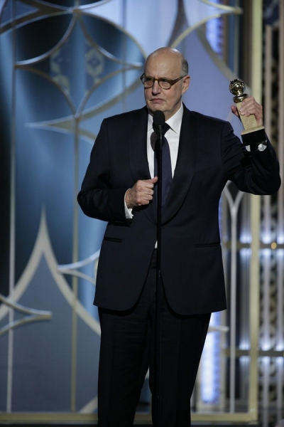 "72nd ANNUAL GOLDEN GLOBE AWARDS -- Pictured: Jeffrey Tambor, ""Transparent"", Winner - Best Actor - TV Series, Comedy or Musical at the 72nd Annual Golden Globe Awards held at the Beverly Hilton Hotel on January 11, 2015 -- (Photo by: Paul Drinkwater/NBC)"