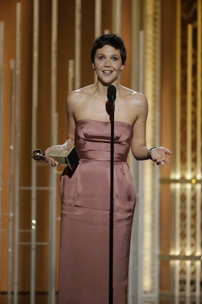 "72nd ANNUAL GOLDEN GLOBE AWARDS -- Pictured: Maggie Gyllenhaal, ""The Honorable Woman"", Winner, Best Actress - Mini-Series or TV Movie at the 72nd Annual Golden Globe Awards held at the Beverly Hilton Hotel on January 11, 2015 -- (Photo by: Paul Drinkwater"