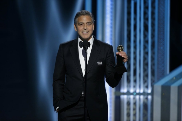 72nd ANNUAL GOLDEN GLOBE AWARDS -- Pictured: George Clooney, Winner, Cecile B. Demille Award at the 72nd Annual Golden Globe Awards held at the Beverly Hilton Hotel on January 11, 2015 -- (Photo by: Paul Drinkwater/NBC)