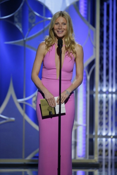 72nd ANNUAL GOLDEN GLOBE AWARDS -- Pictured: Gwyneth Paltrow, Presenter at the 72nd Annual Golden Globe Awards held at the Beverly Hilton Hotel on January 11, 2015 -- (Photo by: Paul Drinkwater/NBC)