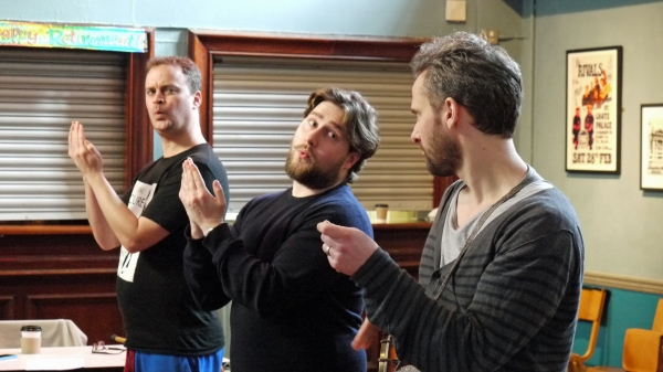 Photo Flash: In Rehearsal with the UK Touring Cast of THREE MEN IN A BOAT