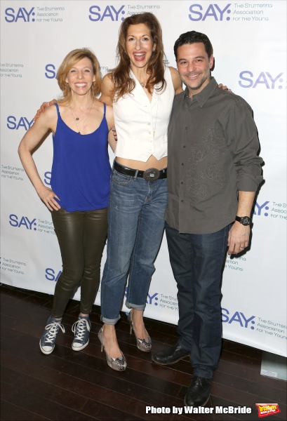 Maddie Corman, Alysia Reiner and David Alan Basche